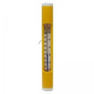 Thermometer, mit Schnur gelb