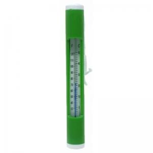 Thermometer, mit Schnur, grün
