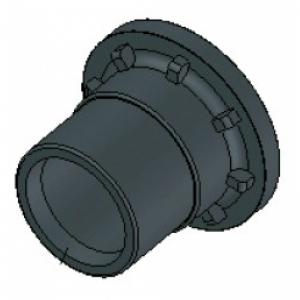 PE - Hahnenanschluss-Stutzen, d 63 mm