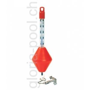 Thermometer , Boje mit Anker