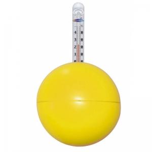 Thermometer Neon-Kugel / gelb