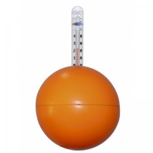 Thermometer Neon-Kugel / orange
