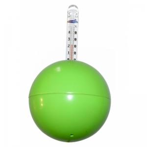 Thermometer Neon-Kugel / grün