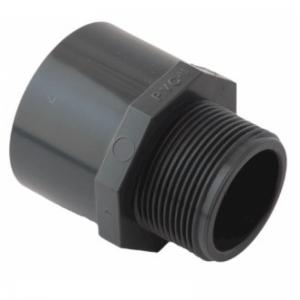 """PVC-Übergangsmuffe 63/50 x 1 1/2"""" AG"""